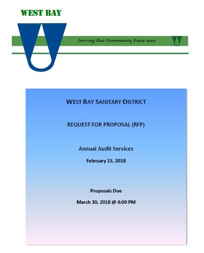 Request For Proposal: Annual Audit Services : West Bay Sanitary District