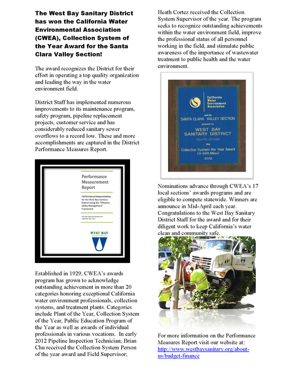 Cwea Award  Article March 2013